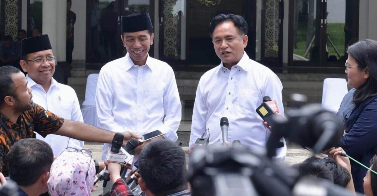 PBB dan Jokowi Bertemu di Istana, Yusril Kami Nggak Bicara Kabinet
