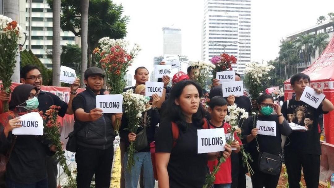 Polemik Revisi UU KPK, Pegawai KPK Minta Tolong Jokowi