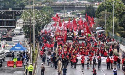 Para Buruh Serukan Tak Akan Pilih Parpol Pendukung Omnibus Law